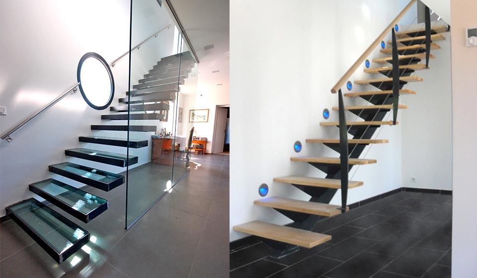 Escalier design et moderne en bois ou métal à Bailleul et Lille